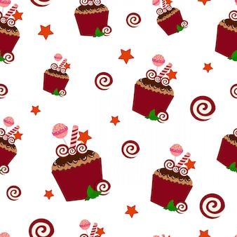 Modèle de gâteau d'anniversaire