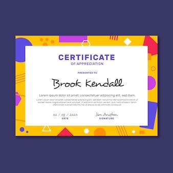 Modèle géométrique abstrait de certificat