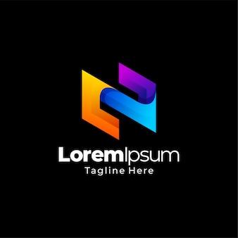 Modèle de gradient de logo abstrait