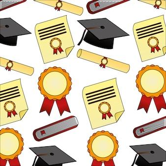 Modèle de graduation de diplôme de parchemin