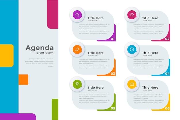 Modèle de graphique d'agenda