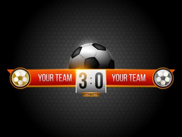 Modèle graphique de diffusion de tableau de bord de football