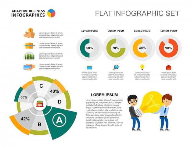 Modèle de graphique d'entreprise et de donut
