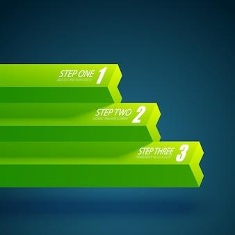 Modèle de graphique d'entreprise en trois étapes