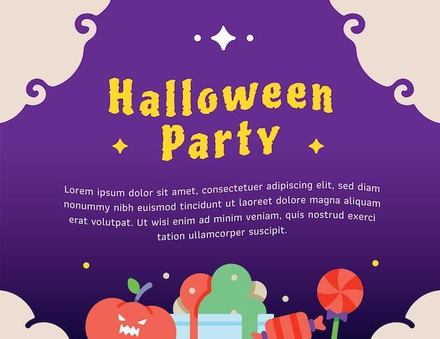 Modèle graphique de fête d'halloween