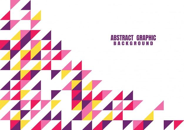 Modèle graphique moderne abstrait coloré géométrique