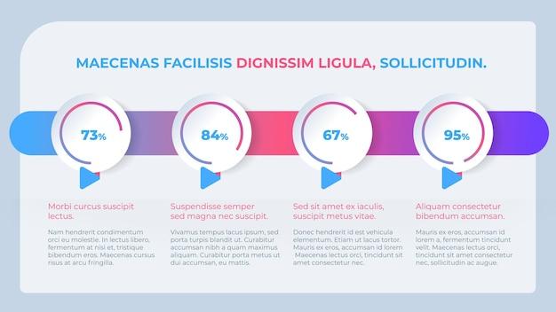 Modèle de graphique à secteurs infographique d'entreprise