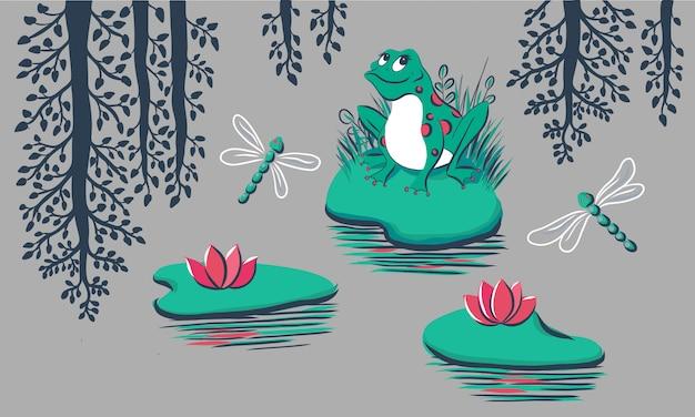 Modèle avec grenouille