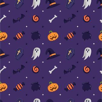 Modèle d'halloween design plat