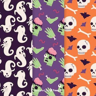 Modèle halloween dessiné à la main spooky