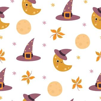 Modèle d'halloween lune