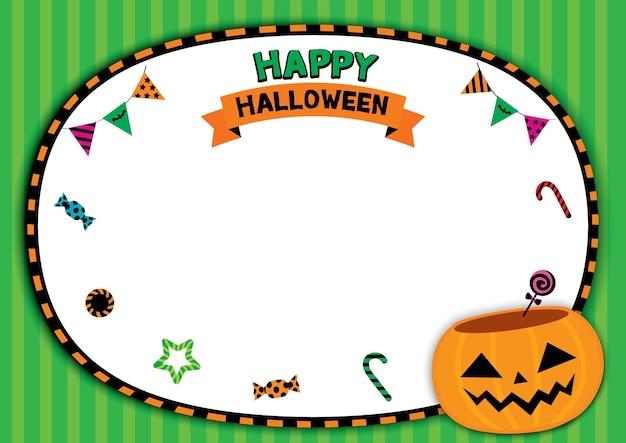 Modèle happy halloween avec pot de citrouille
