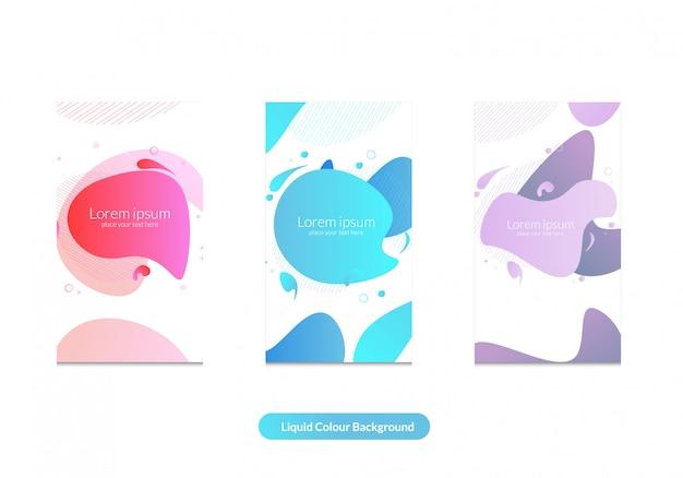 Modèle d'histoire de bacgkround et d'instagram couleur liquide