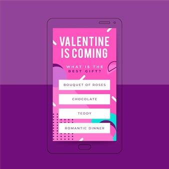 Modèle d'histoire instagram de memphis valentines day