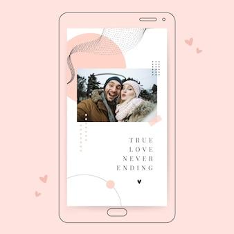 Modèle d'histoire instagram de la saint-valentin