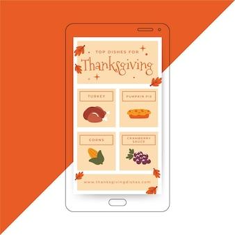 Modèle d'histoire instagram de thanksgiving