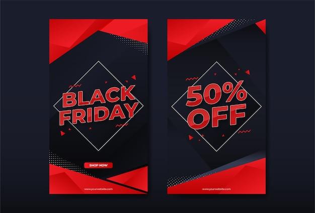 Modèle d'histoire instagram de vente vendredi noir