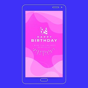 Modèle d'histoire de médias sociaux de fête d'anniversaire