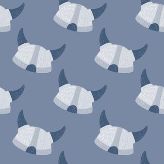 Modèle d'histoire transparente avec des casques de doodle scandinave