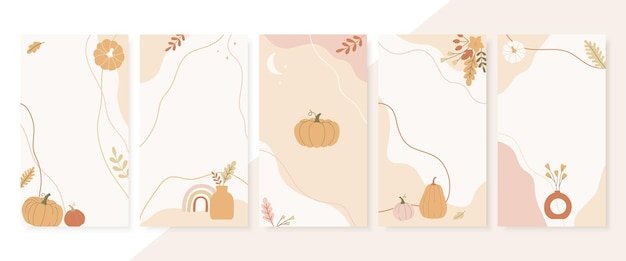 Modèle d'histoires abstraites de la saison d'automne