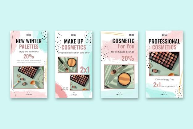 Modèle d'histoires cosmétiques instagram
