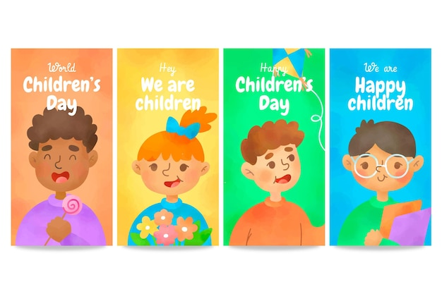Modèle d'histoires de la fête des enfants