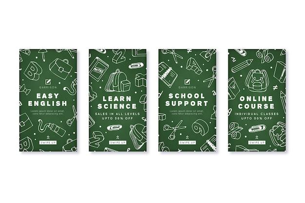 Modèle d'histoires instagram d'académie scolaire