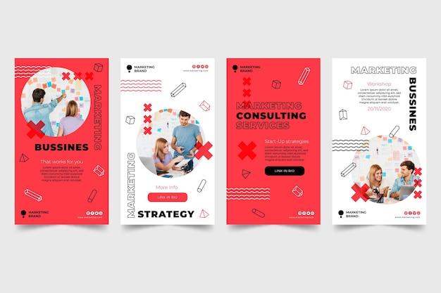 Modèle d'histoires instagram d'affaires marketing