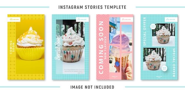 Modèle d'histoires instagram alimentaires