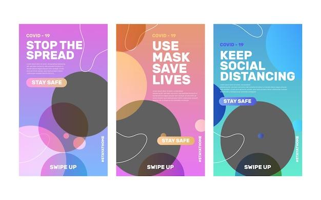 Modèle d'histoires instagram de coronavirus