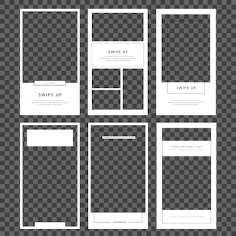 Modèle d'histoires instagram. définir le cadre post.