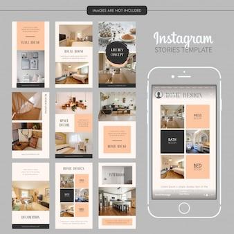 Modèle d'histoires instagram intérieur