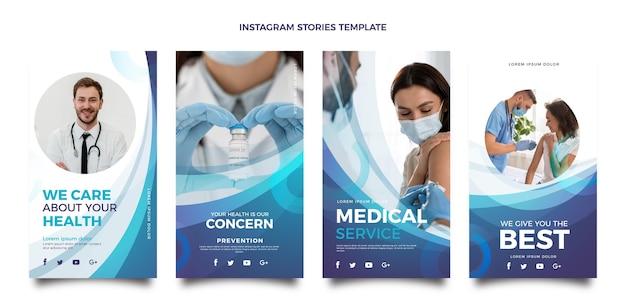 Modèle d'histoires instagram médicales dégradées