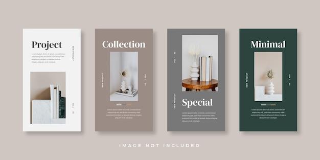 Modèle d'histoires instagram de meubles