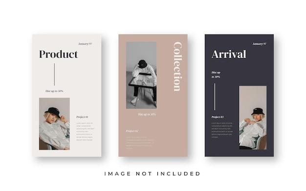 Modèle d'histoires instagram minimalistes