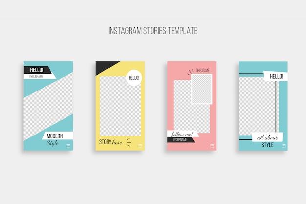 Modèle d'histoires instagram modernes