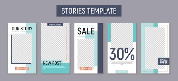 Modèle d'histoires instagram modifiables