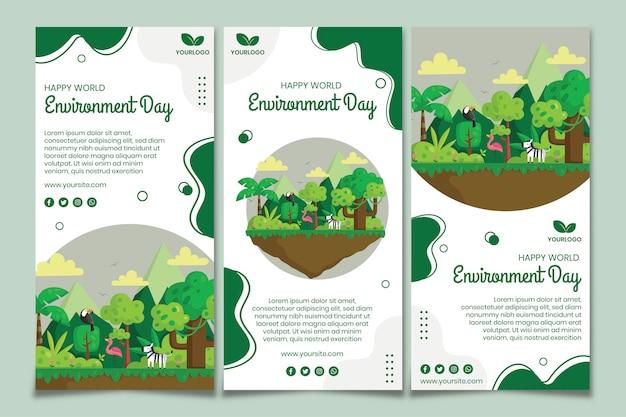 Modèle d'histoires instagram pour la journée de l'environnement