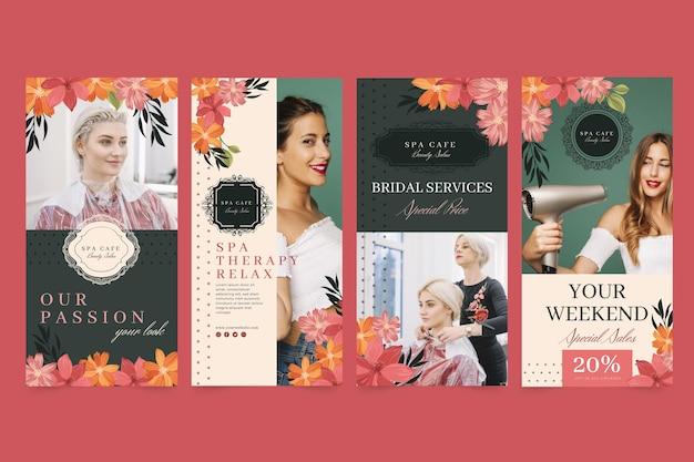 Modèle d'histoires instagram de salon de mode de beauté