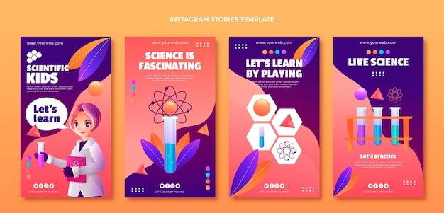 Modèle d'histoires instagram de science dégradée