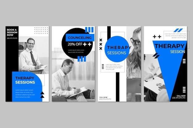 Modèle d'histoires instagram de sessions de thérapie