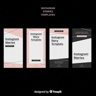 Modèle d'histoires instagram simples