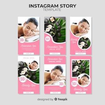 Modèle d'histoires instagram spa