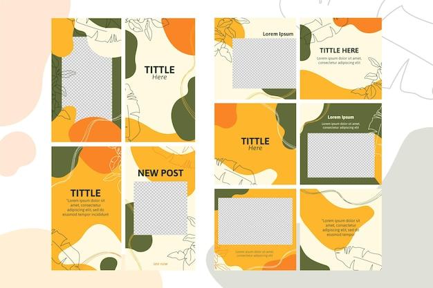 Modèle d'histoires instagram de taches de couleurs