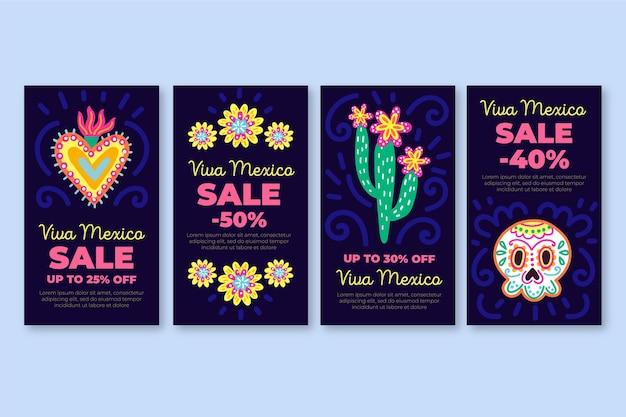 Modèle d'histoires instagram de vente de viva mexico