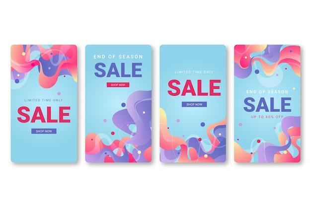 Modèle d'histoires instagram de vente
