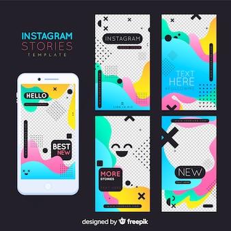 Modèle d'histoires instagram
