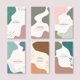Modèle d'histoires de médias sociaux avec des couleurs en terre cuite