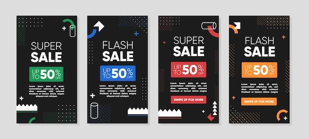 Modèle d'histoires de médias sociaux pour les annonces de vente de promotion