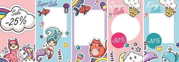 Modèle d'histoires pour bébés kawai blogger pour animaux